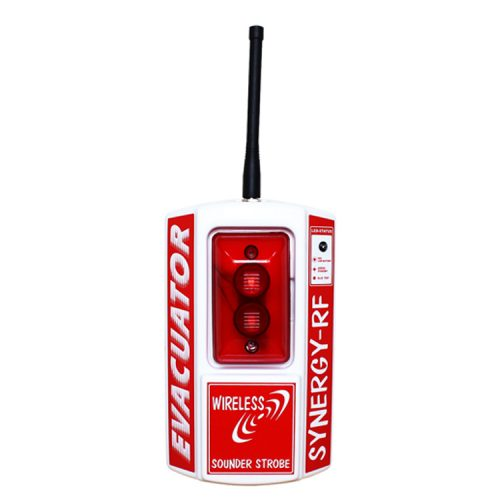 A wireless sounder strobe site alarm