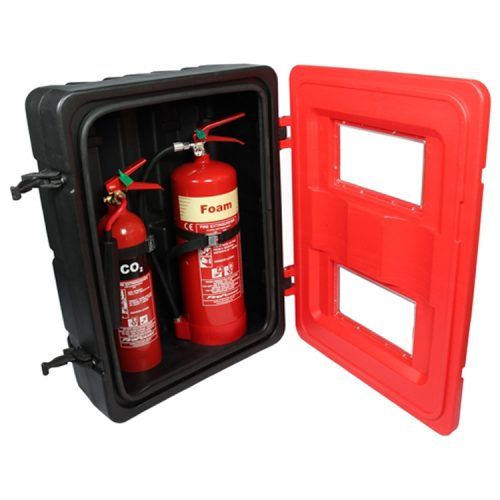 Double-Extinguisher-cabinet