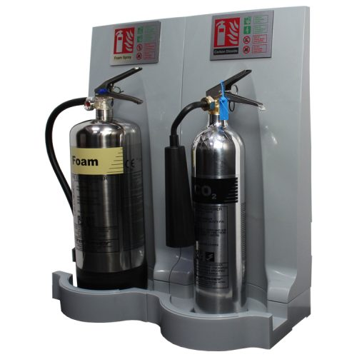 double-grey-modulex-fire-extinguisher-stand