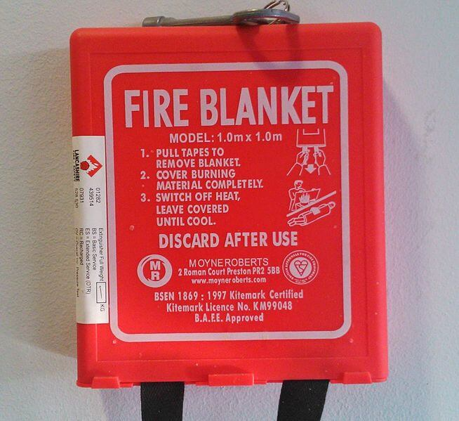 Using Fire Blankets