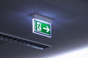 emergency exit sign adequately lit