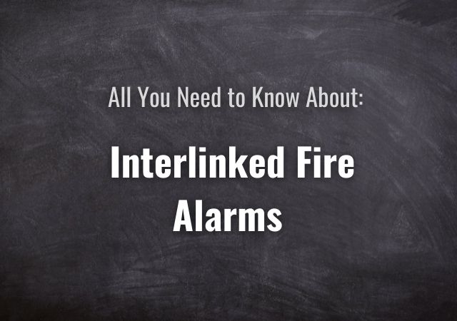Interlinked fire alarms